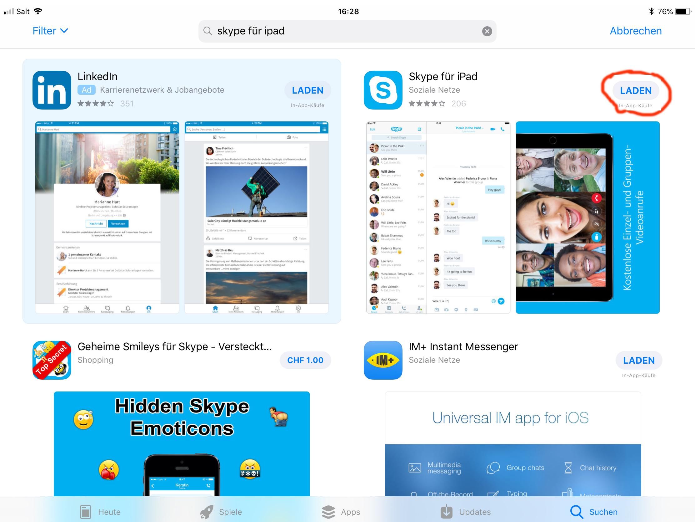 Skype laden