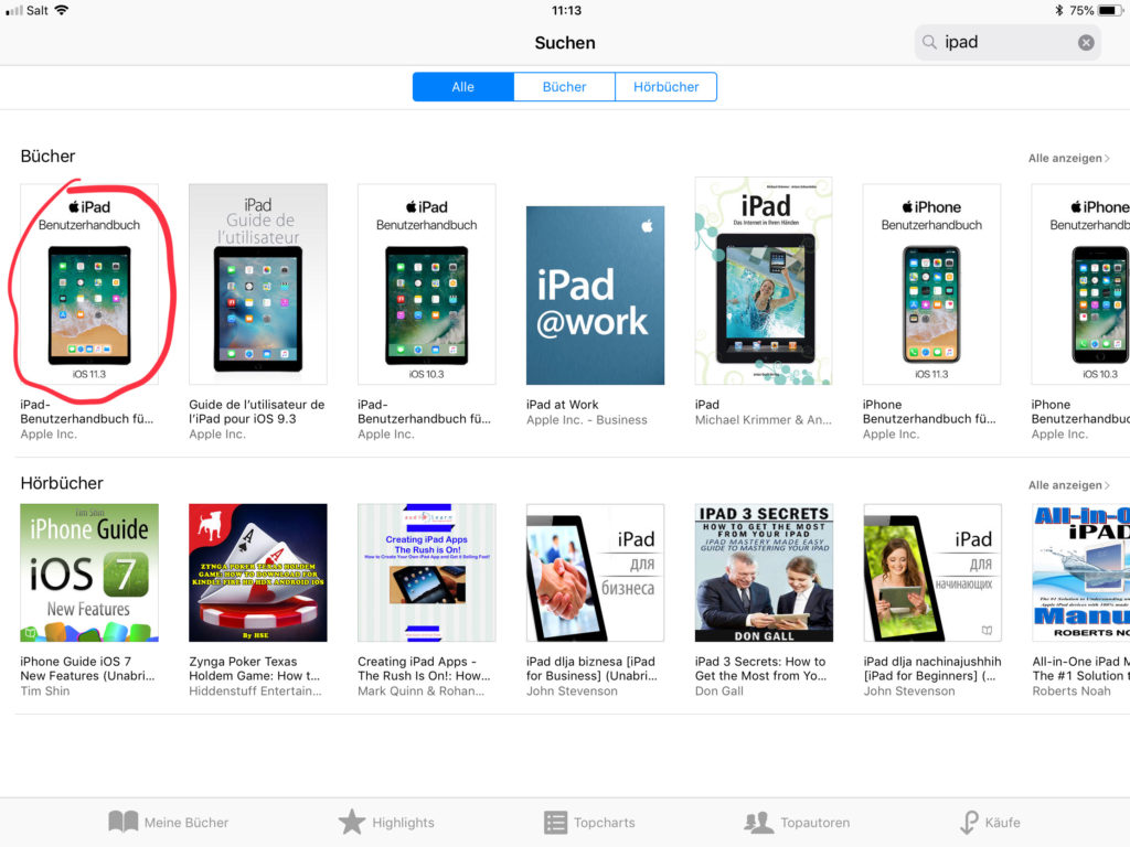 Suchergebnis iPad